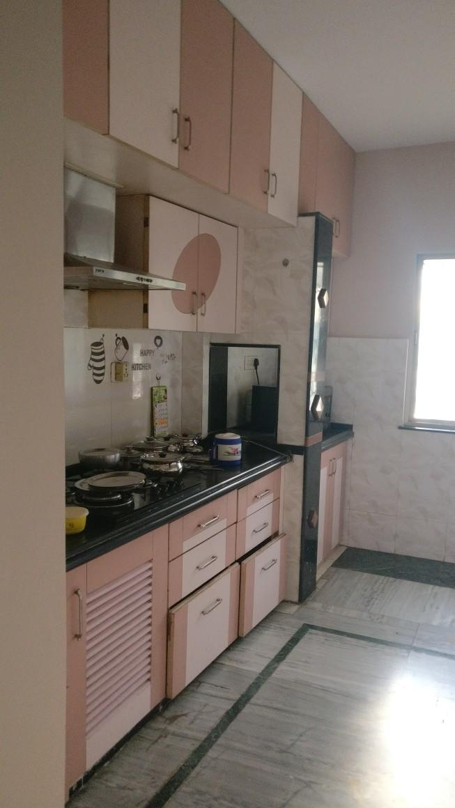 On 1st floor with lift 2bhk semifurnished flat for rent 15000 at dharampeth