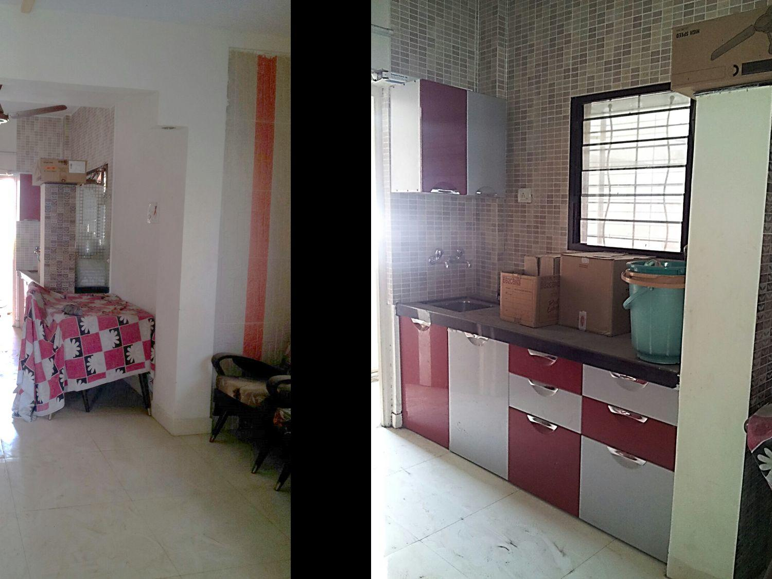 2bhk Duplex  Entrance is on first floor, Has clear view on front